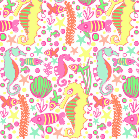 undersea kids pattern fabric artgirlangi spoonflower