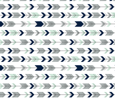 Fletching Arrows (small scale) 90  // Northern Lights fabric by littlearrowdesign on Spoonflower - custom fabric