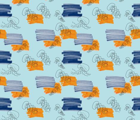 small jellyfish fabric fabric by ekatrina on Spoonflower - custom fabric