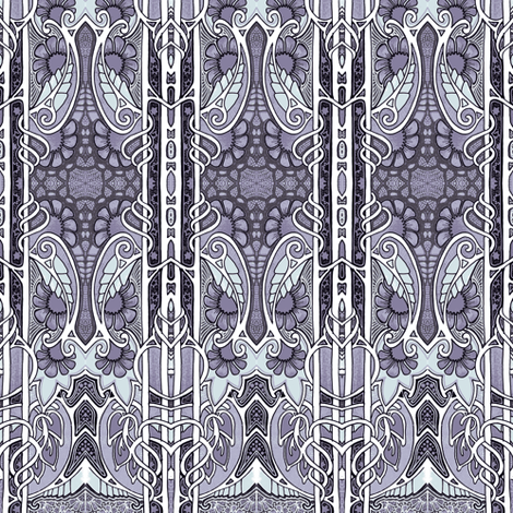 Shivering Silver fabric by edsel2084 on Spoonflower - custom fabric