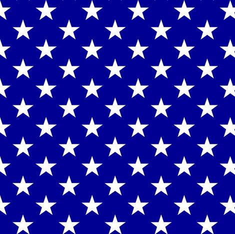 stars on blue fabric by littlearrowdesign on Spoonflower - custom fabric