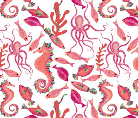 Summer Aquatic  fabric by vo_aka_virginiao on Spoonflower - custom fabric