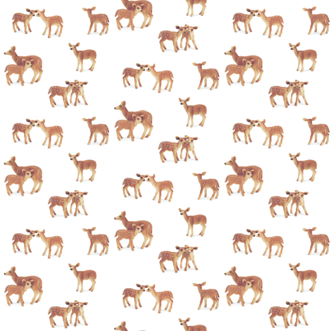 Fawn Nursery on White, Less Yellow fabric by thistleandfox on Spoonflower - custom fabric