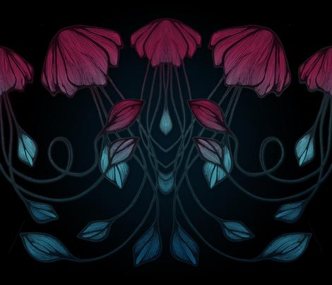 Deep Ocean fabric by yukastudio on Spoonflower - custom fabric