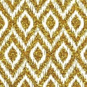 gold glitter ikat