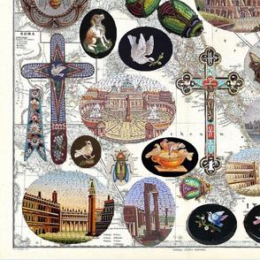 Omage to Italian Micro-Mosaics; blocks