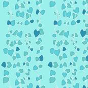 Chain of Hearts III TurquoiseBlue