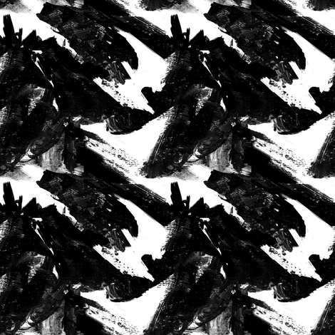 Pine Trees Black and White fabric by barbarapritchard on Spoonflower - custom fabric
