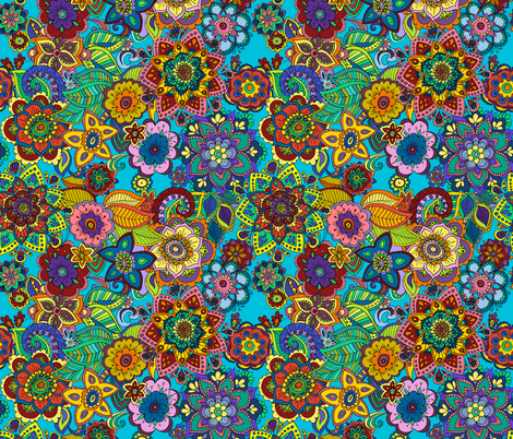 mandala love fabric by woodledoo on Spoonflower - custom fabric