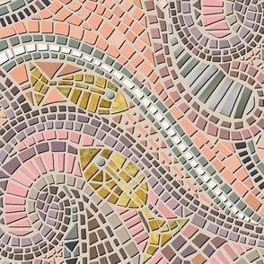 mosaic fish pastel