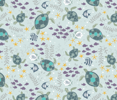 bucketfeet_aquatic_final fabric by ldpapers on Spoonflower - custom fabric