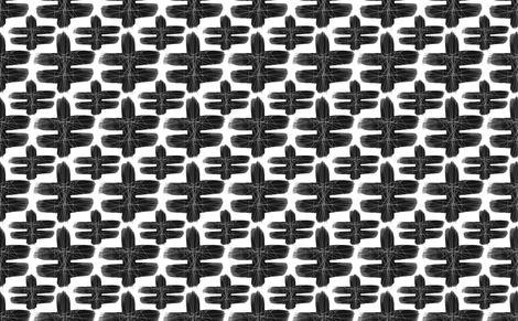 Black and White Oslo Small fabric by barbarapritchard on Spoonflower - custom fabric