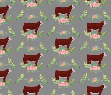 Rshow_steer_floral_pattern_hereford_shop_preview