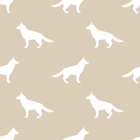 German Shepherd silhouette dog fabric sand fabric by petfriendly on Spoonflower - custom fabric