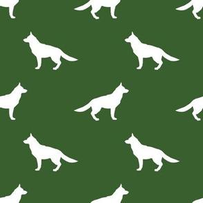 German Shepherd silhouette dog fabric garden