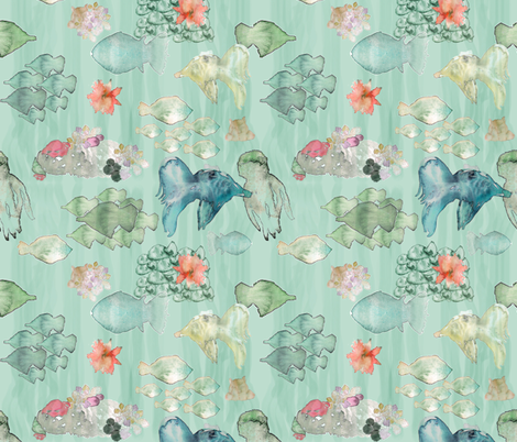 sea creatures fabric by arrpdesign on Spoonflower - custom fabric