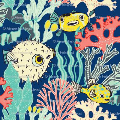 Pufferfish & Coral
