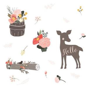 "10.5"" Hello Floral Deer"