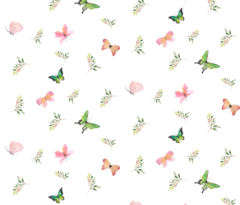 "10.5"" FOX BUTTERFLY MIX & MATCH fabric by shopcabin on Spoonflower - custom fabric"