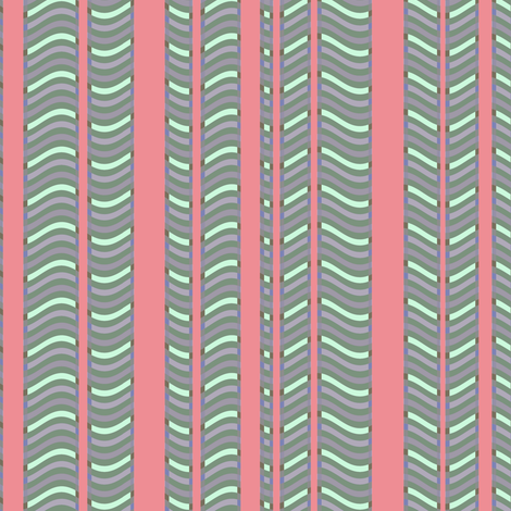 Pink and Lavender Stripes and Waves fabric by eclectic_house on Spoonflower - custom fabric