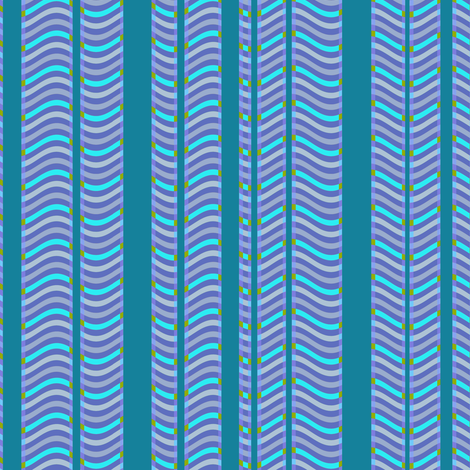 Teal and Purple Stripes and Waves fabric by eclectic_house on Spoonflower - custom fabric