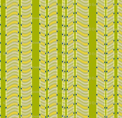 Lime and Lemon Stripes and Waves