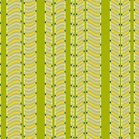 Lime and Lemon Stripes and Waves fabric by eclectic_house on Spoonflower - custom fabric