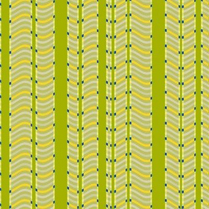 Lime and Lemon Stripes and Waves