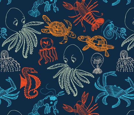 Under The Sea fabric by honeyinthewild on Spoonflower - custom fabric