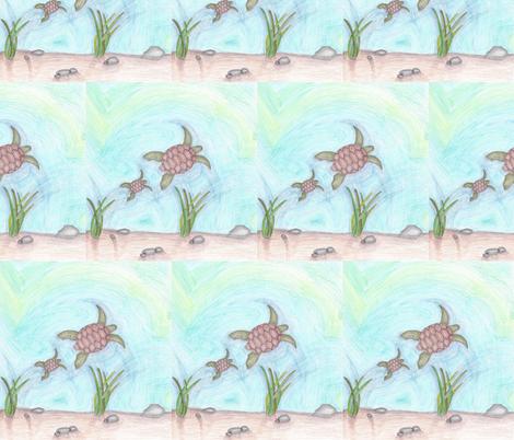 Aquatic Animals fabric by kate's_kwilt_studio on Spoonflower - custom fabric