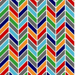 Dark Rainbow Arrow Chevron