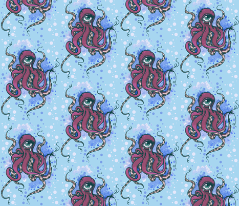 Cyclops Octopus fabric by horrorvacui on Spoonflower - custom fabric