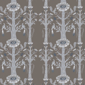 Grey Forest Floral