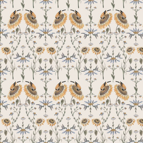Goldfinch & Hummingbird