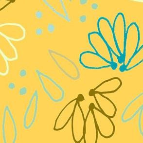organic botanical in golden yellow