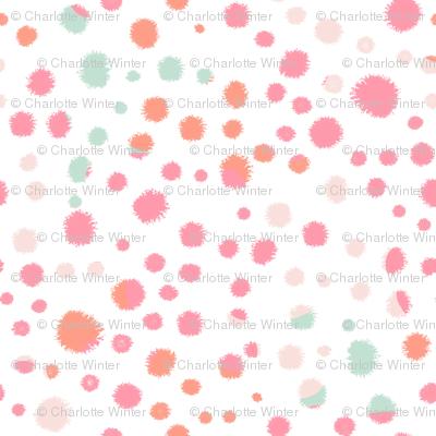 coral pink and mint nursery fabric girls room interior decor fabrics