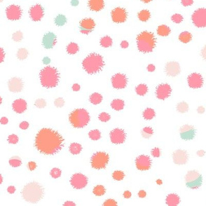coral pink and mint nursery fabric girls room interior decor fabrics