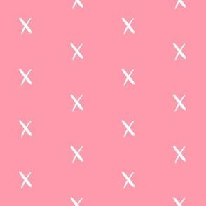 x pink fabric