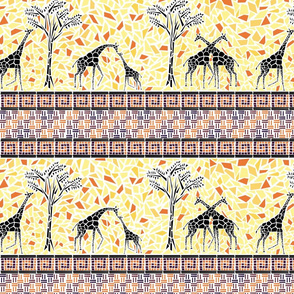 Giraffe Stripes Mosaic