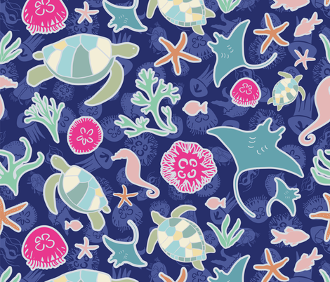 Spirits of the Sea fabric by madalainemccabe on Spoonflower - custom fabric