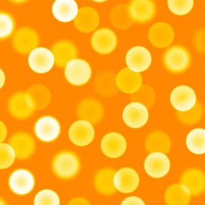 bright saffron bokeh dots