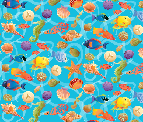 Under-The-Sea_Fun fabric by julistyle on Spoonflower - custom fabric