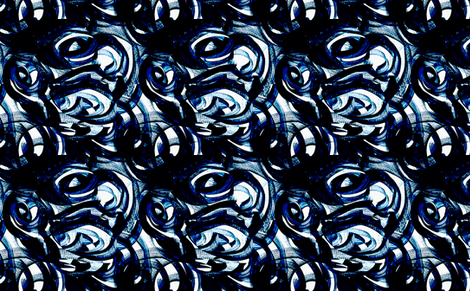 Blue and white Circles fabric by barbarapritchard on Spoonflower - custom fabric
