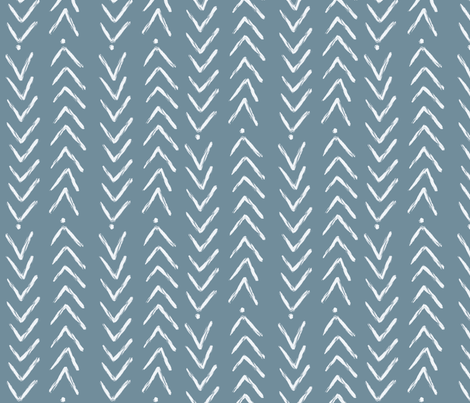 Hand Painted Chevron and Dots fabric by leahstraatsma on Spoonflower - custom fabric