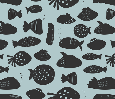 Aquatic_Animals fabric by efrat02 on Spoonflower - custom fabric