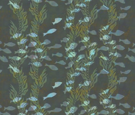 Fish and Kelp fabric by jpweaver on Spoonflower - custom fabric