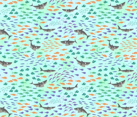 Shark Fun fabric by bestofdays on Spoonflower - custom fabric