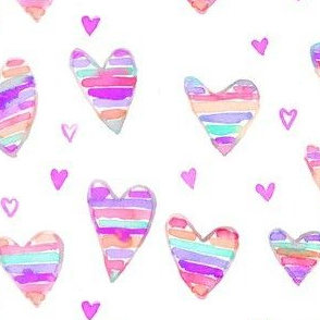 stripey hearts