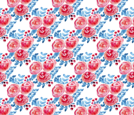 Mosaic Floral Bouquet fabric by smallhoursshop on Spoonflower - custom fabric