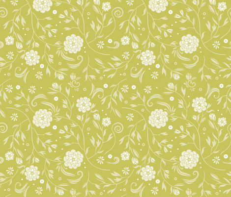 sunny floral pattern fabric by camcreative on Spoonflower - custom fabric
